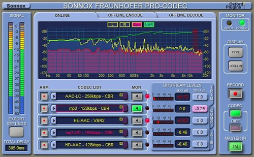 The Sonnox Fraunhofer Pro-Codec Plug-In