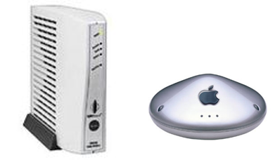 The DOCSIS 1.1 workhorse, Motorola's SURFboard 4100, and Apple's original AirPort WiFi router, launched in 1999
