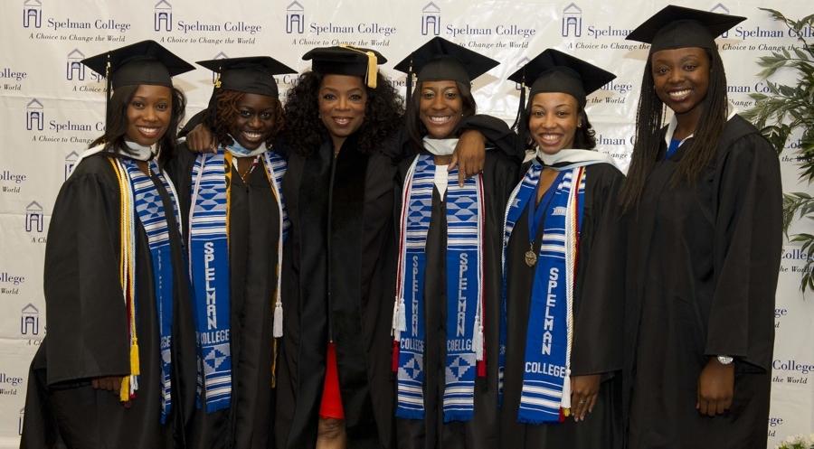 Oprah Winfrey with Spelman College Graduates