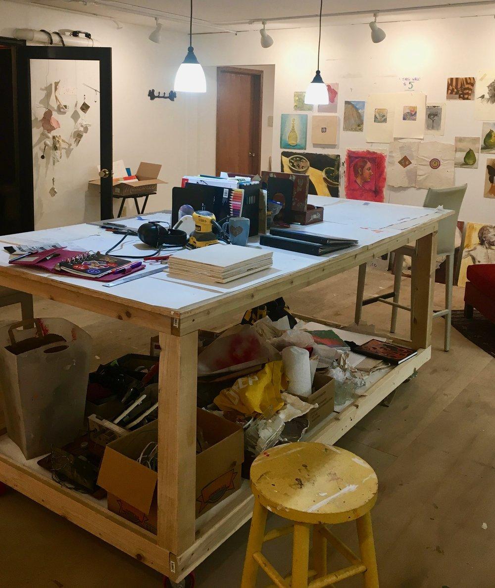 Second floor studio at Squirrel Haus Arts