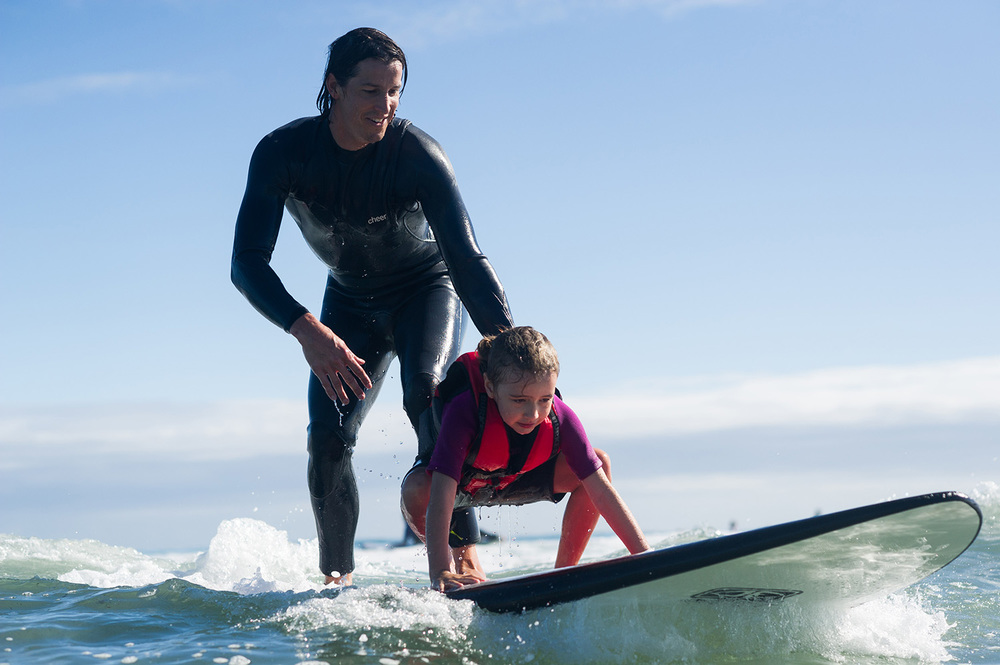 Helping out the Ocean Heroes team - taking kids with Autism surfing