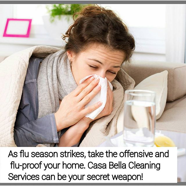 As flu season strikes, get your home prepared and be on the offense instead of playing defense with those pesky germs. #CasaBellaCleaningService can help you flu-proof your home! #bowlinggreen #cleaning #fluSeason #cleaningcompany #toledoohio
