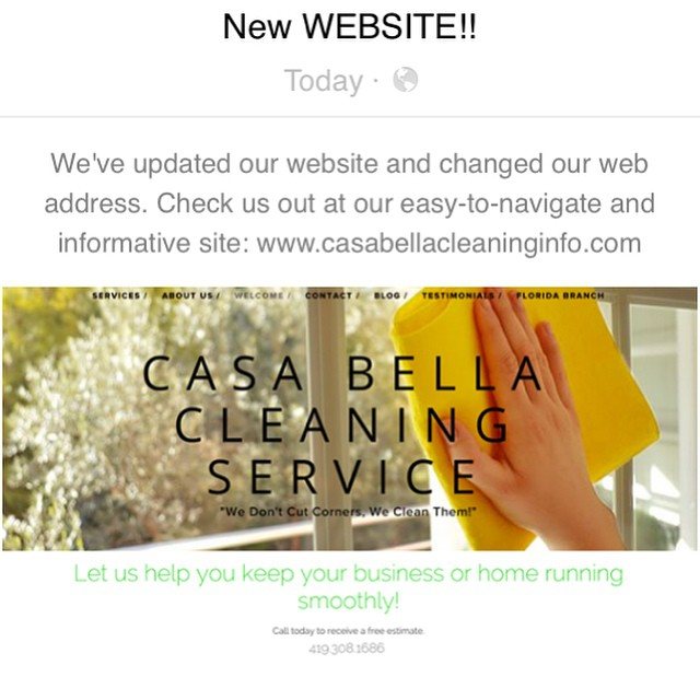 Come check out our new website ! The website includes a surprise about our new additional branch location, too! Link is above and in our description 👌 And don't forget to call or email us TODAY about our Valentines Day special of up to 15% off all cleaning services!  #cleaningservices #cleaning #homecleaning #officecleaning #pressurecleaning #warehousecleaning #smallbusiness #restaurantcleaning #residentialcleaning #cleaningservice #windowcleaning #insuredbusiness #cleaningbusiness #ohiobusiness #floridabusiness #northwestohio #bowlinggreenohio #bgsu