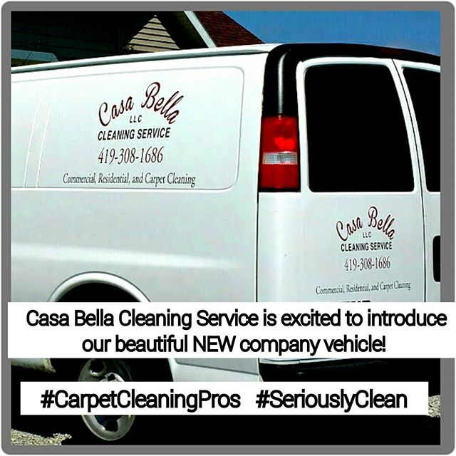 We have a beautiful NEW company van! It's perfect for our growing company. Especially with all the carpet cleaning and commercial sites we clean. #blessed #CarpetCleaningPros #seriouslyclean #CasaBellaCleaningService #bowlinggreenohio #toledoohio #Carpet #van #companyvehicle #companygrowth
