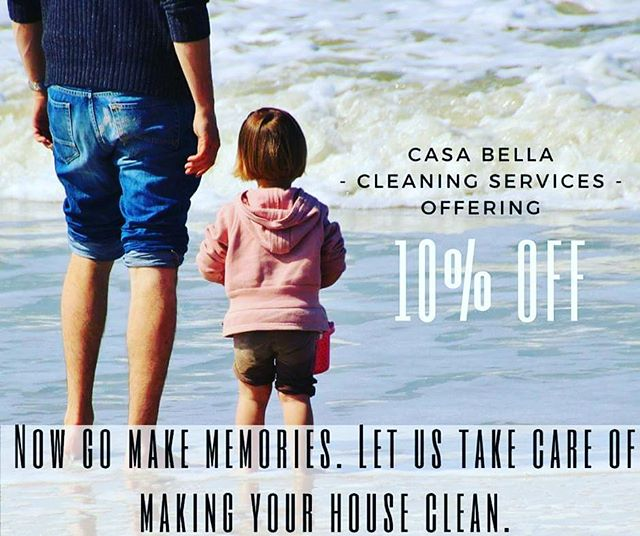 #CasaBellaCleaningService is offering 10% off cleaning and carpet cleaning! Now go make memories! Let us take care of making your house clean.