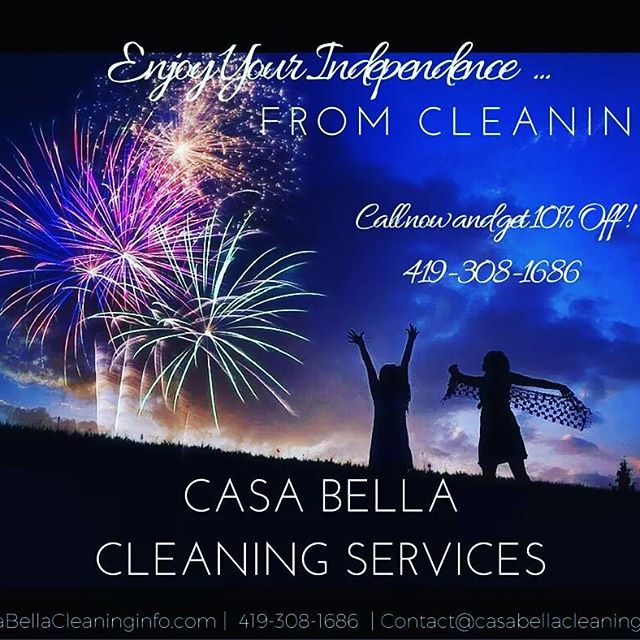 Enjoy your independence... From CLEANING! Book a first time cleaning in July and get 10% OFF!