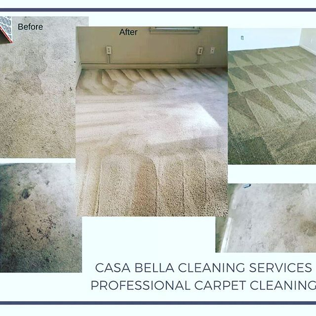 Our clients are LOVING our carpet cleaning service. During the college move-out we performed miracles on some clients' properties! #CasaBellaCleaningService #CarpetCleaning