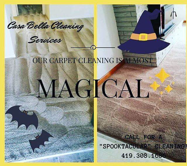 Selling your home? Just moved in? Looking to spruce up your carpets before the family comes for the holidays? We can add a bit of magic to your abode! Check out some reviews on our website. Www.Casabellacleaninginfo.com Our carpet cleaning services are almost MAGICAL!