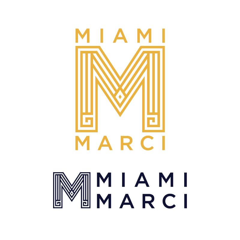 cherrycollaborative :           Miami Marciano Logo - One of the many recent freelance identity projects for Cherry Co.   Designed by Cherry Collaborative…   For design inquiries Cherry@CherryCo.jp