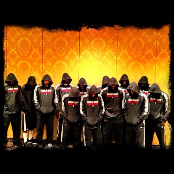 itsjoshdoe :     #HEAT stand for justice, #TrayvonMartin. #hoodies (Taken with  instagram )