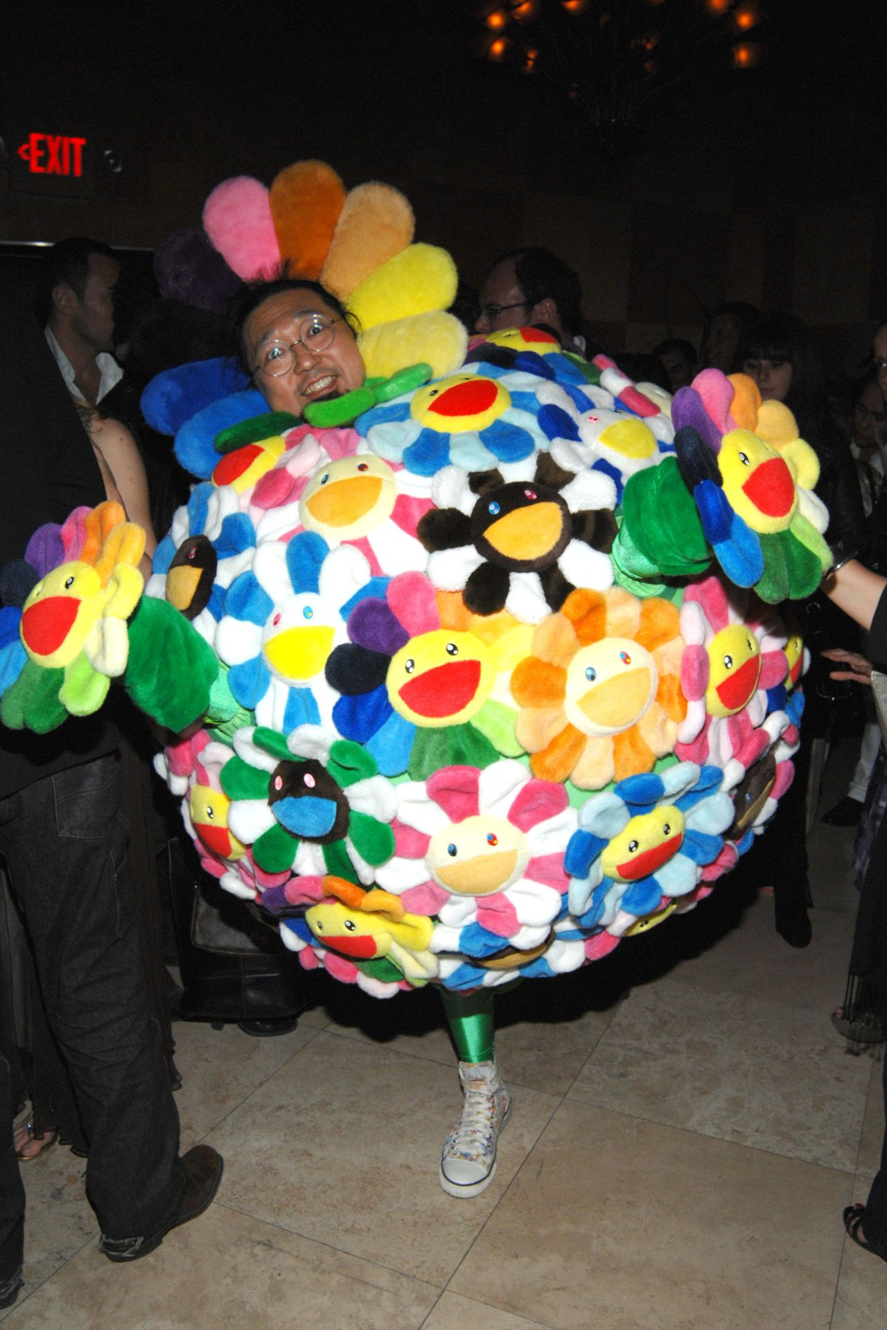 artruby: From the wonderful PMc vault: Takashi Murakami stealing the show at Miami Art Basel in 2008.