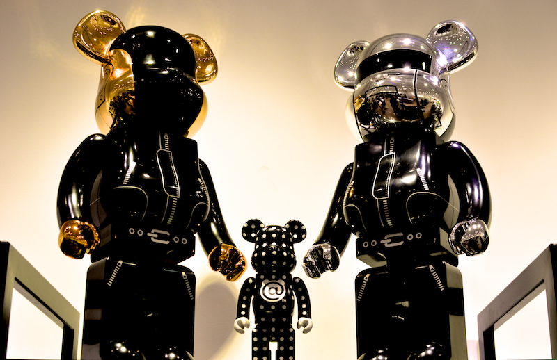 Daft Punk Bearbricks are here at @unknwnmiami. Super rare.