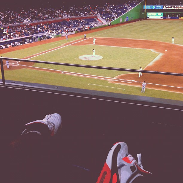 Dade vs DC via Hyperfuse technology. (Taken with Instagram at Marlins Park Diamond Club)