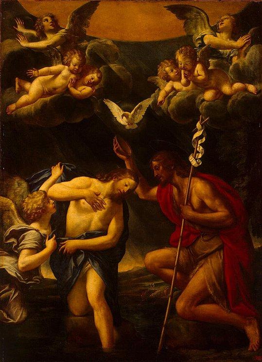 necspenecmetu :     Francesco Albani, The Baptism of Christ, c. 1640