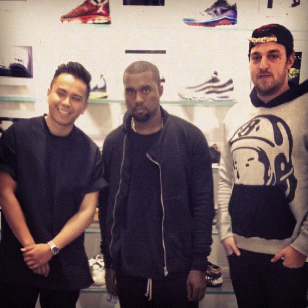 Had the pleasure of meeting @Kanye West today. @UNKNWNMIAMI (Taken with Instagram)