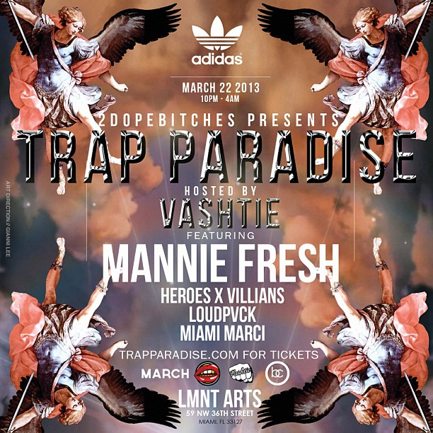 PROBLEMS FOR MIAMI AGAIN. Trap Paradise is back. Tickets at TrapParadise.com.    @Vashtie  @2DOPEBITCHES  @MannieFresh  @WE_ARE_HXV   @Loudpvck