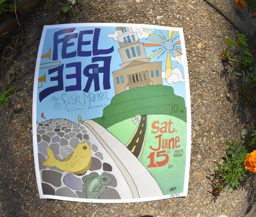 FeelFree Fish Market Poster 2013