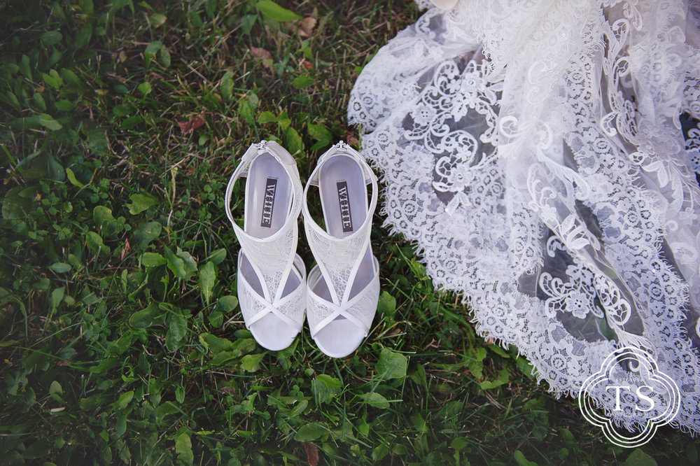 Bridal Shoes and Bridal Gown