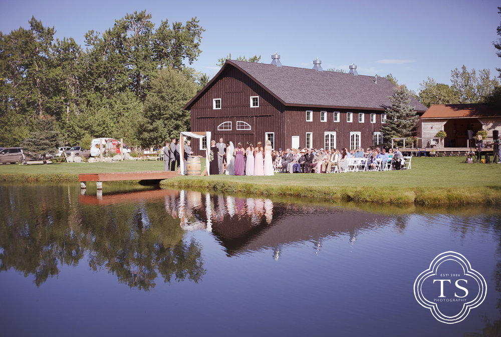 Barn Wedding at Wild Flower Gardens
