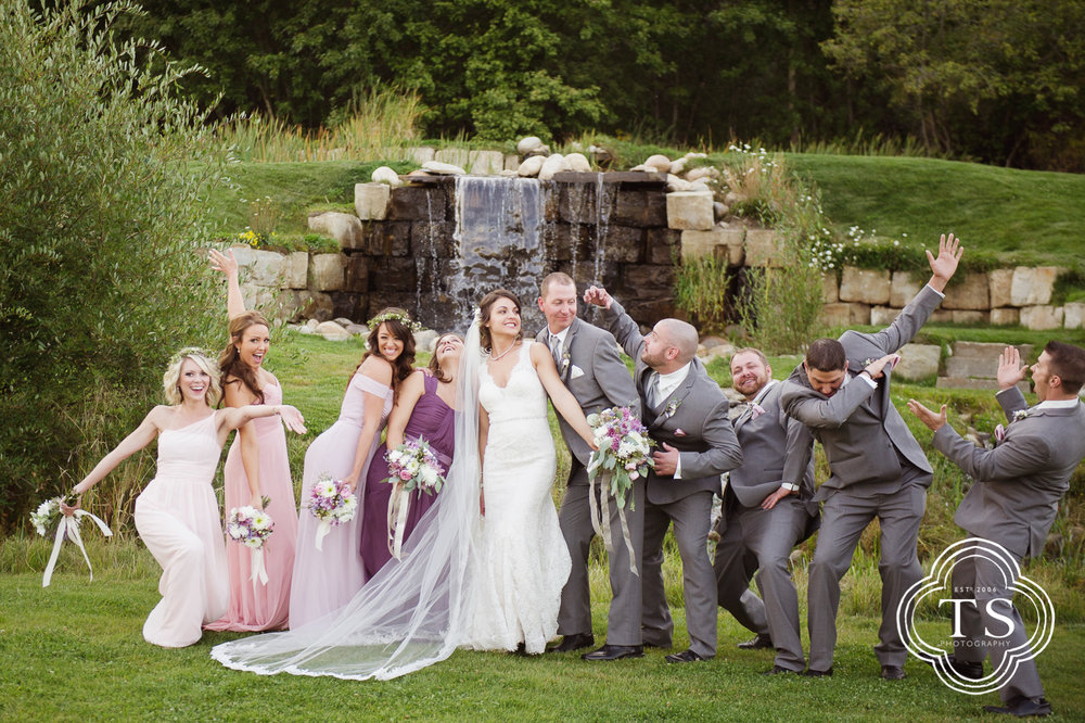 Bridal party at Wild Flower Gardens