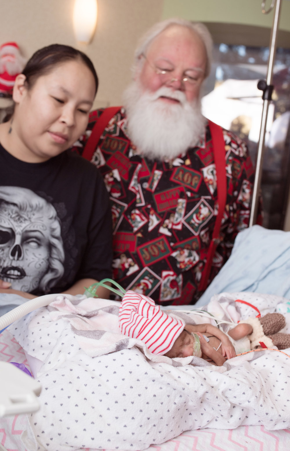 Baby and Santa in NICU