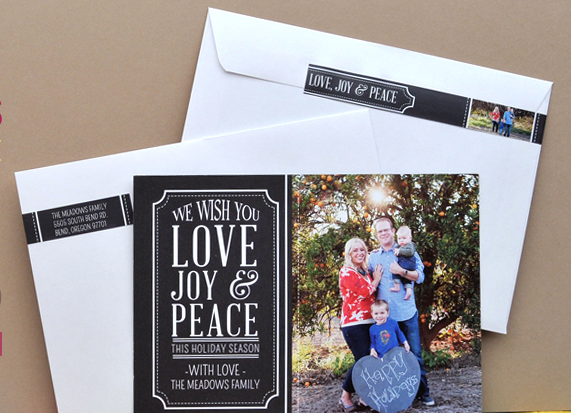 Wrap Around Return Address Labels.  Address on the front, message wraps around envelope to the back flap.