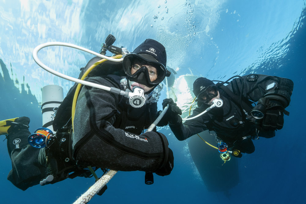 To teach you the skills and knowledge to safely dive in a Drysuit and stay warmer and more comfortable -