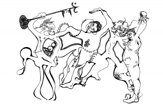Illustration by Ned Astra in  The Faggots and Their Friends Between Revolutions . New York: Calamus Books, 1977.