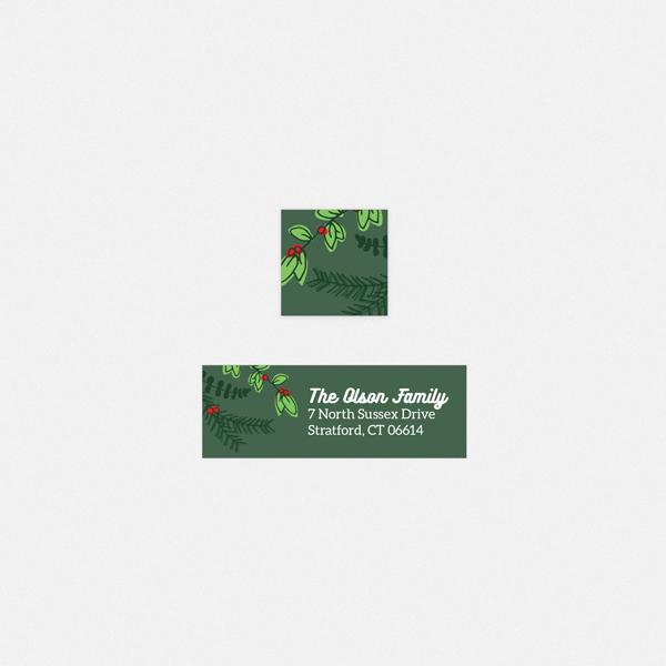 seasonal foliage return address label seal whcc resources