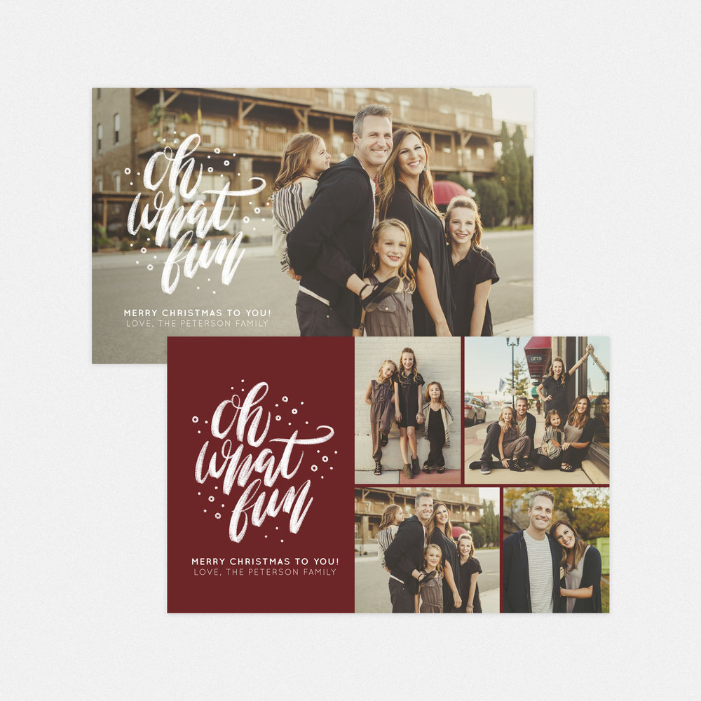 Oh What Fun 5x8 Photo Greeting Card — WHCC Resources