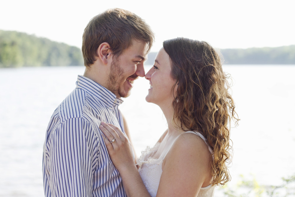 Lake Brandt Greensboro North Carolina Romantic Adventurous Engagement Photography