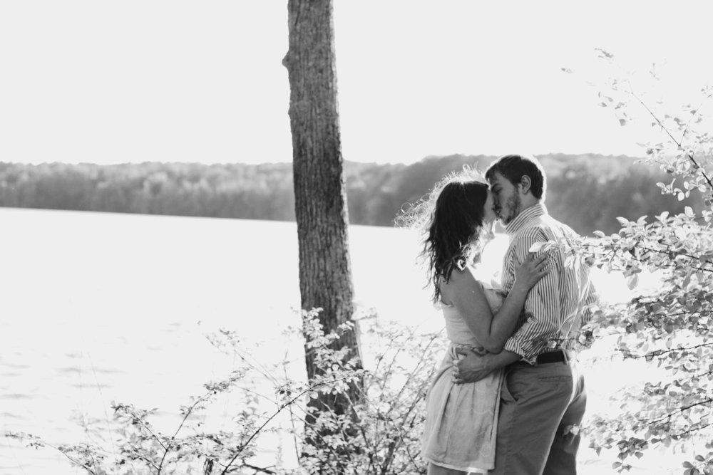 Lake Brandt Greensboro Engagement Photography