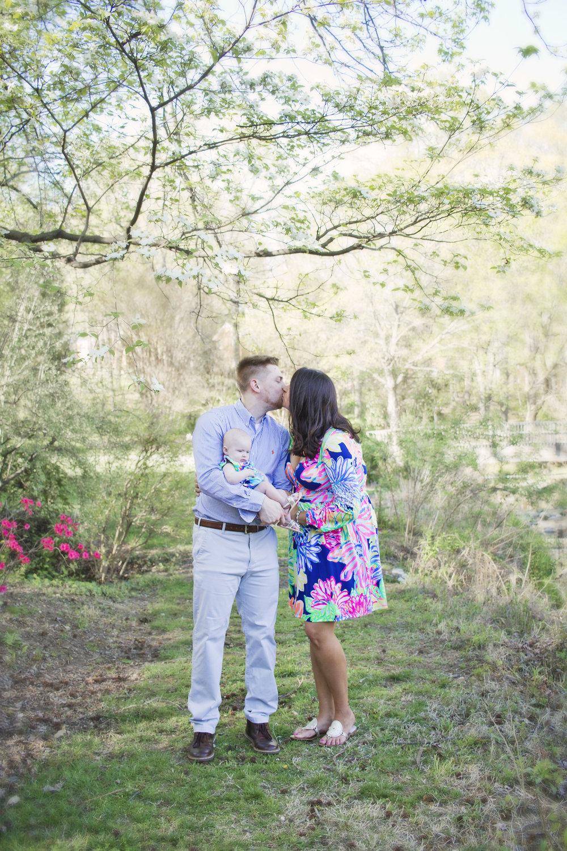 Family Newborn Portraits in Greensboro Arboretum by Kayli LaFon Photography