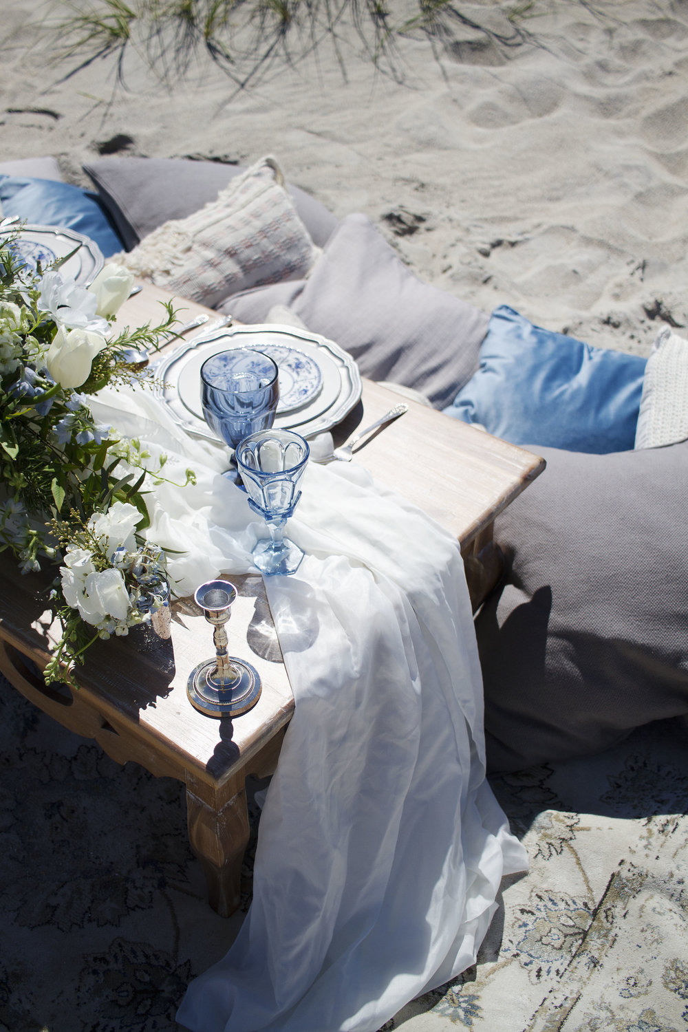Wrightsville Beach Styled Wedding Shoot and tablescape