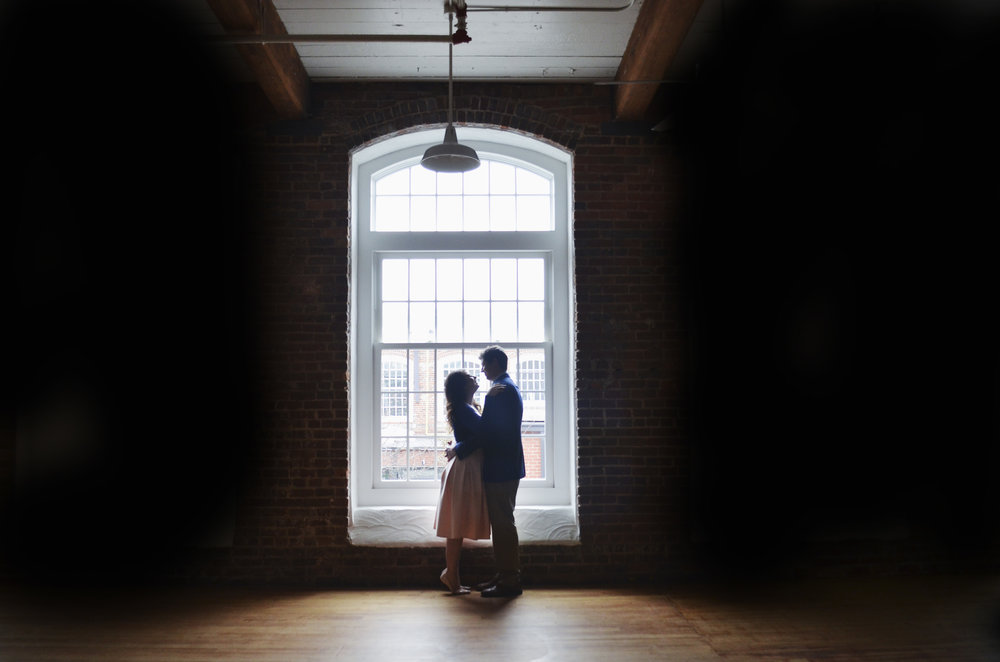 Revolution Mill Engagement Photography