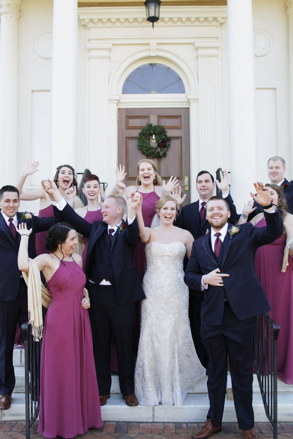 UNCG Alumni House wedding photography by Kayli LaFon Photography