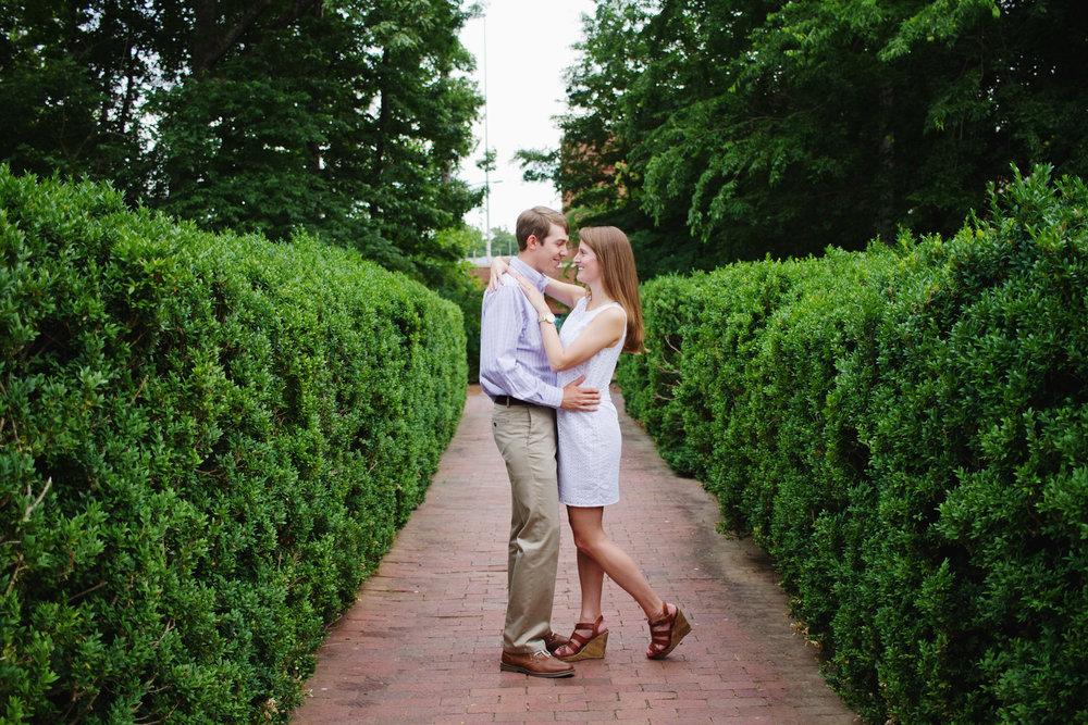 UNC Chapel Hill Campus Engagement Session by Kayli LaFon Photography