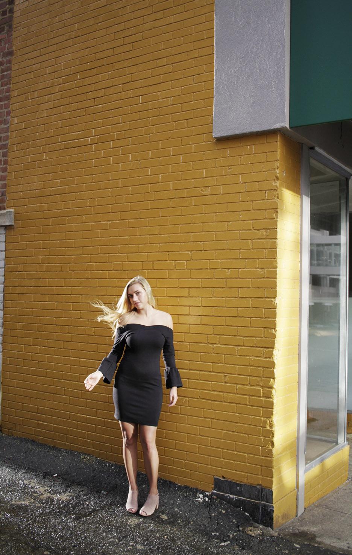 Leigha's senior photos in downtown Winston-Salem, NC
