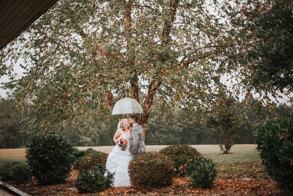 Rainy Fall Wedding