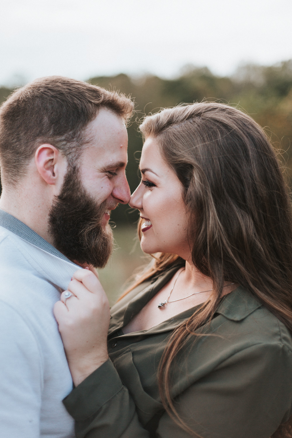 Fall Engagement Photography Session by Greensboro Winston-Salem Photographer