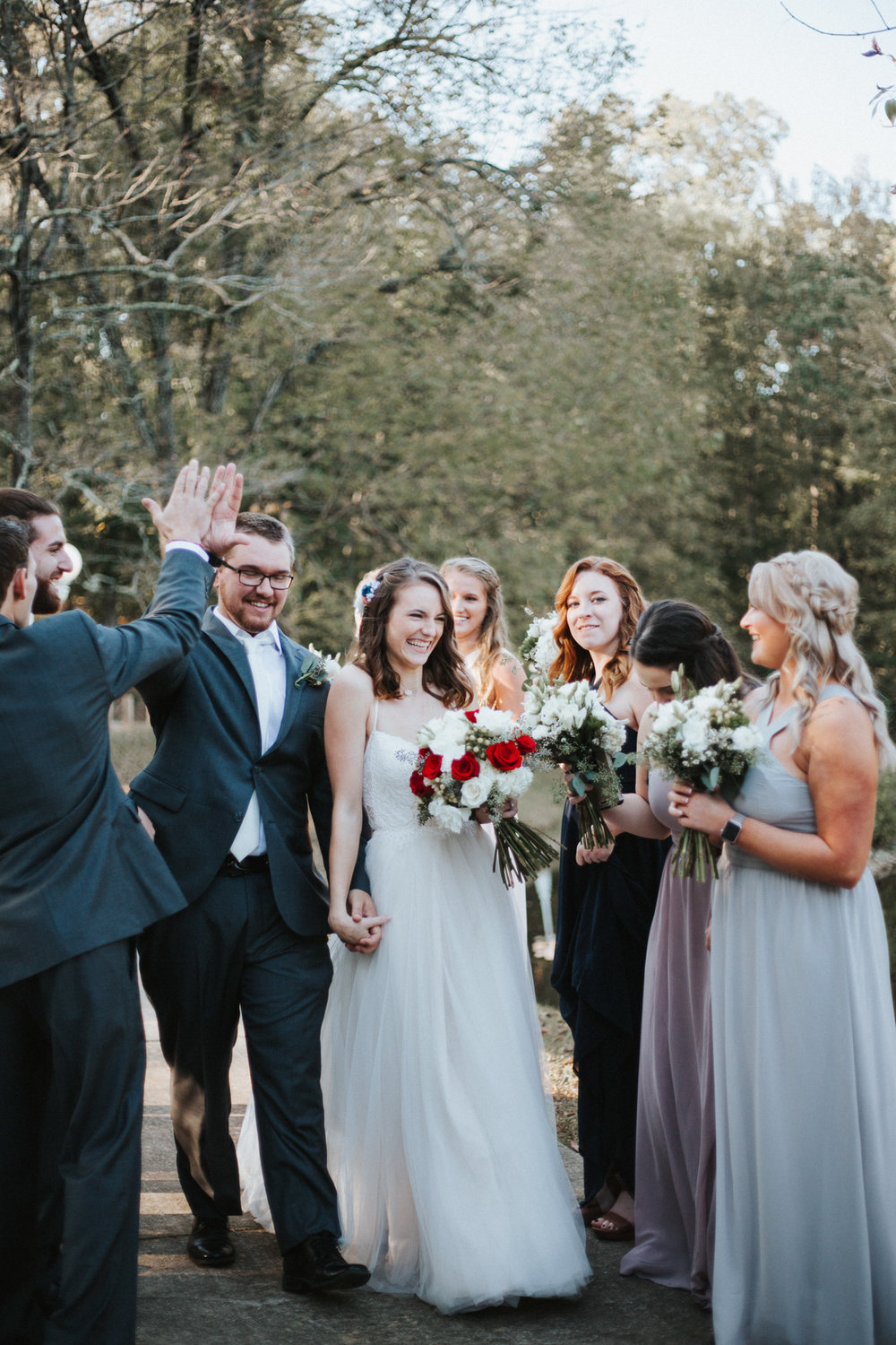 Autumn Fall Wedding Photography at Angel Cottages by the Lake by Greensboro Winston-Salem Photographer