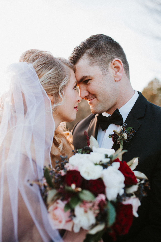 December Winter Wedding Photography by Greensboro Winston-Salem, NC Photographer