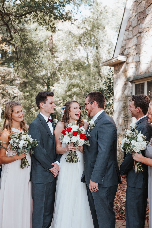 Bridal Party Portraits and Fall Wedding Photography by Greensboro Winston-Salem Photographer   Kayli LaFon Photography