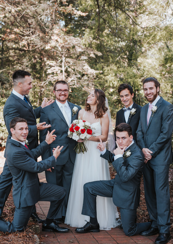 Bridal Party and Fall Wedding Photography by Greensboro Winston-Salem Photographer   Kayli LaFon Photography