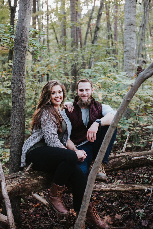 Outdoorsy Fall Engagement Session | Kayli LaFon Photography | Greensboro Winston-Salem, North Carolina Photographer