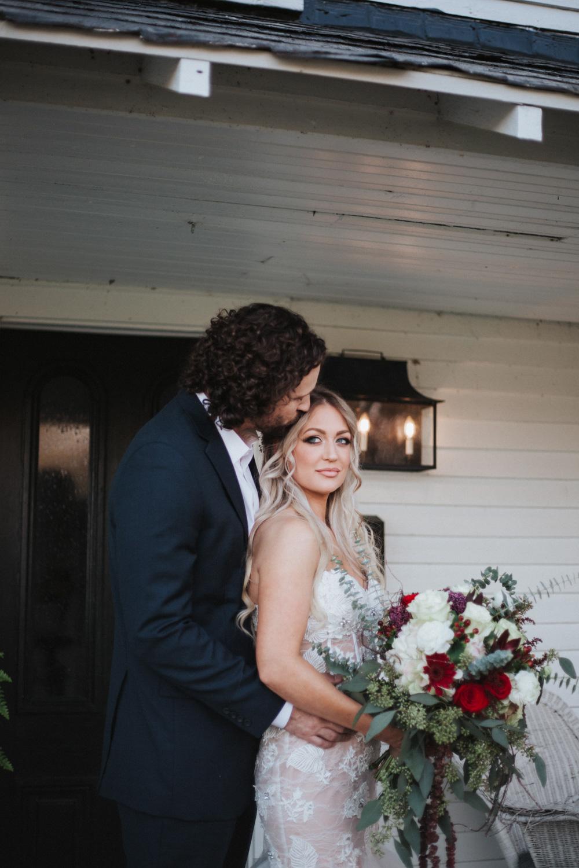 Willstella Farm Fall Wedding Couple in Kernersville, NC | by Kayli LaFon Photography | Greensboro Winston-Salem, NC