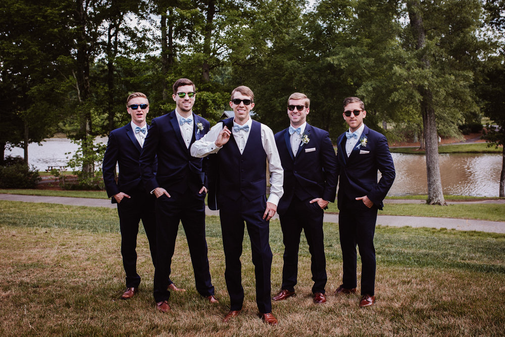 Groom and Groomsmen bridal party photos by Kayli LaFon Photography
