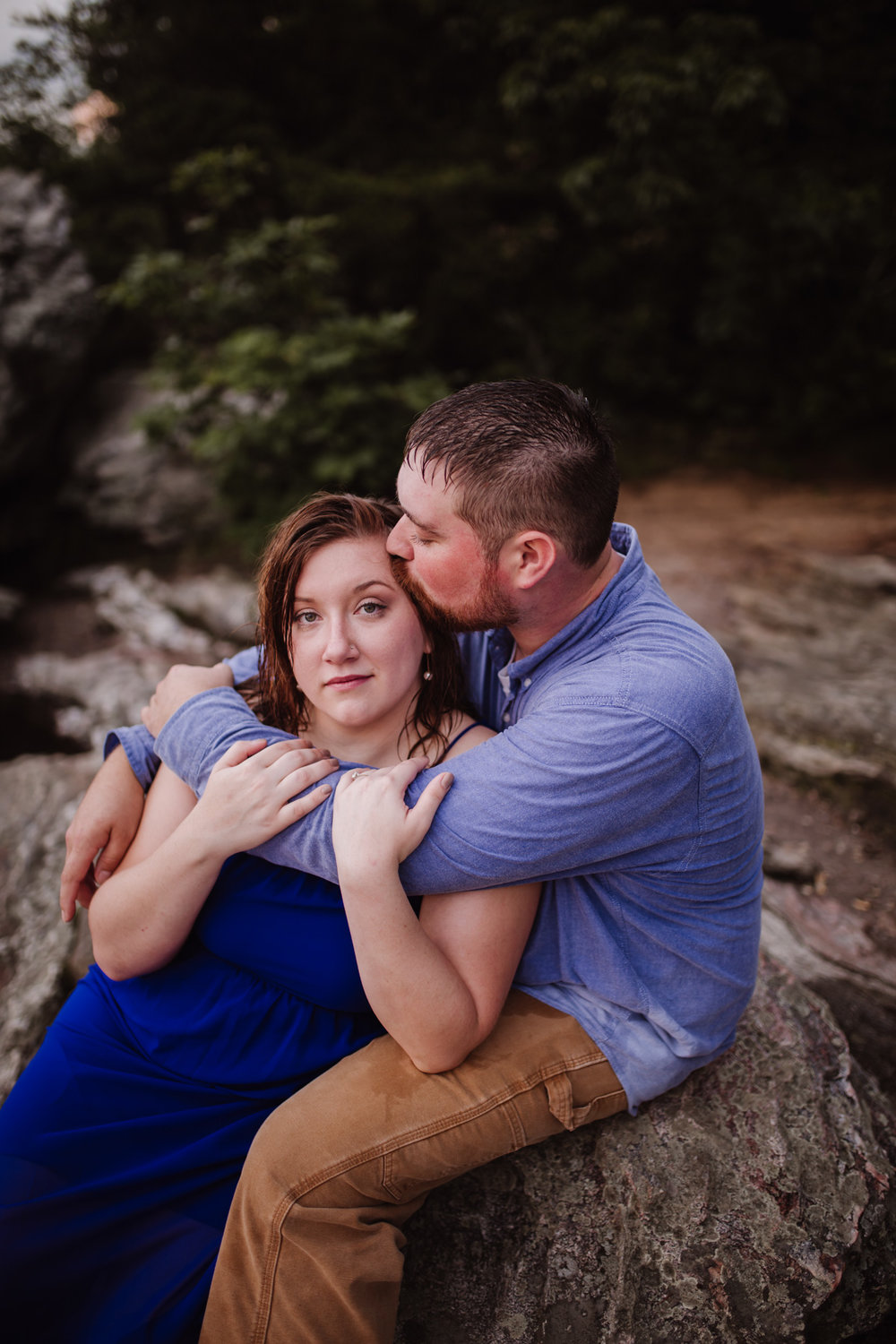 Hanging Rock Engagement Session at Sunset | by Kayli LaFon Photography | Greensboro Winston-Salem NC Photographer