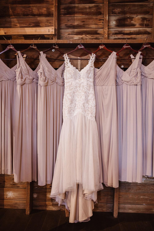 Wedding Gown at Millikan Farms, Sophia NC | Kayli LaFon Photography