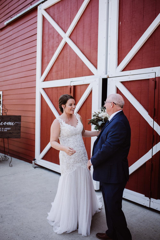 Father Daughter First Look at Millikan Farms, Sophia NC | Kayli LaFon Photography